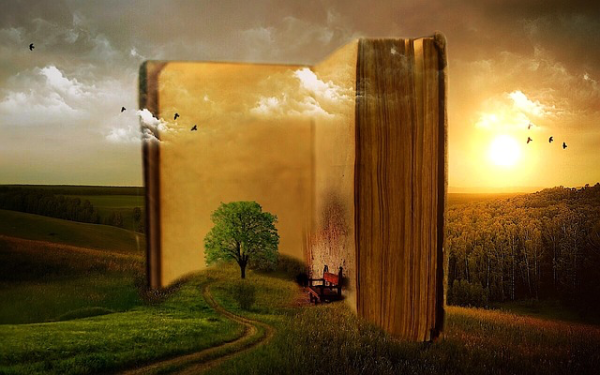 Imagination inside a book