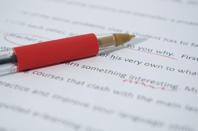 Edit your work with a red pen