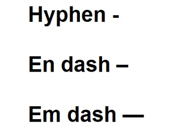 Are you using the correct dash?